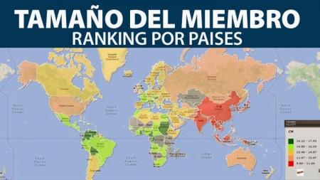 Ranking mundial según tamaño del miembro viril masculino