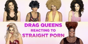Drag Queens reaccionando ante porno hetero
