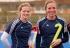 Matrimonio gay busca el oro en hockey femenino