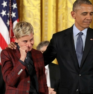 USA: Ellen DeGeneres recibe la medalla de la libertad de manos de Obama