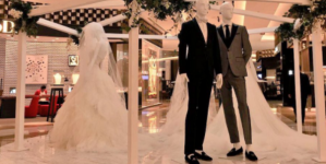 Mexico: El Palacio de Hierro representa a pareja gay con maniquíes en sección de bodas
