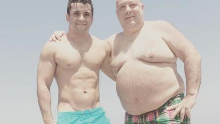 Sam Stanley, jugador de rugby es criticado por casarse con un hombre mayor que él