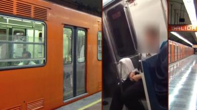 Descubren a un hombre masturbándose en el metro de Ciudad de México