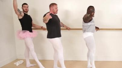 El video de musculosos bailando ballet