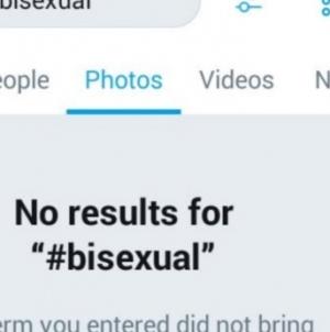 Twitter bloqueo las fotografías que aparecen con el hashtag #bisexual