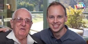 Australia: Abuelo de 104 años votó SI al matrimonio igualitario para que su nieto se pueda casar