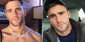 Keegan Whicker enseñando melocoton en Instagram