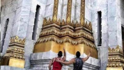 Tailandia: Arrestan a pareja gay por mostrar sus traseros en un templo en Bangkok