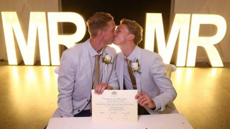 Atletas australianos se suman a la lista de matrimonios igualitarios