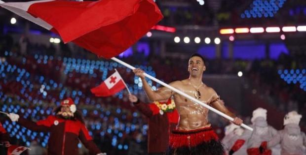 Pita Taufatofua vuelve a ser tendencia en PyeongChang 2018
