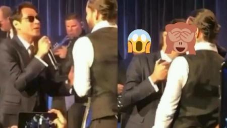 El video de Marc Anthony dandole tremendo beso a Maluma