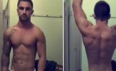 El viral de un chico haciendo twerk desnudo en un vestuario